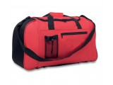 Red Duffle Sports Bag with Small Mesh Pocket